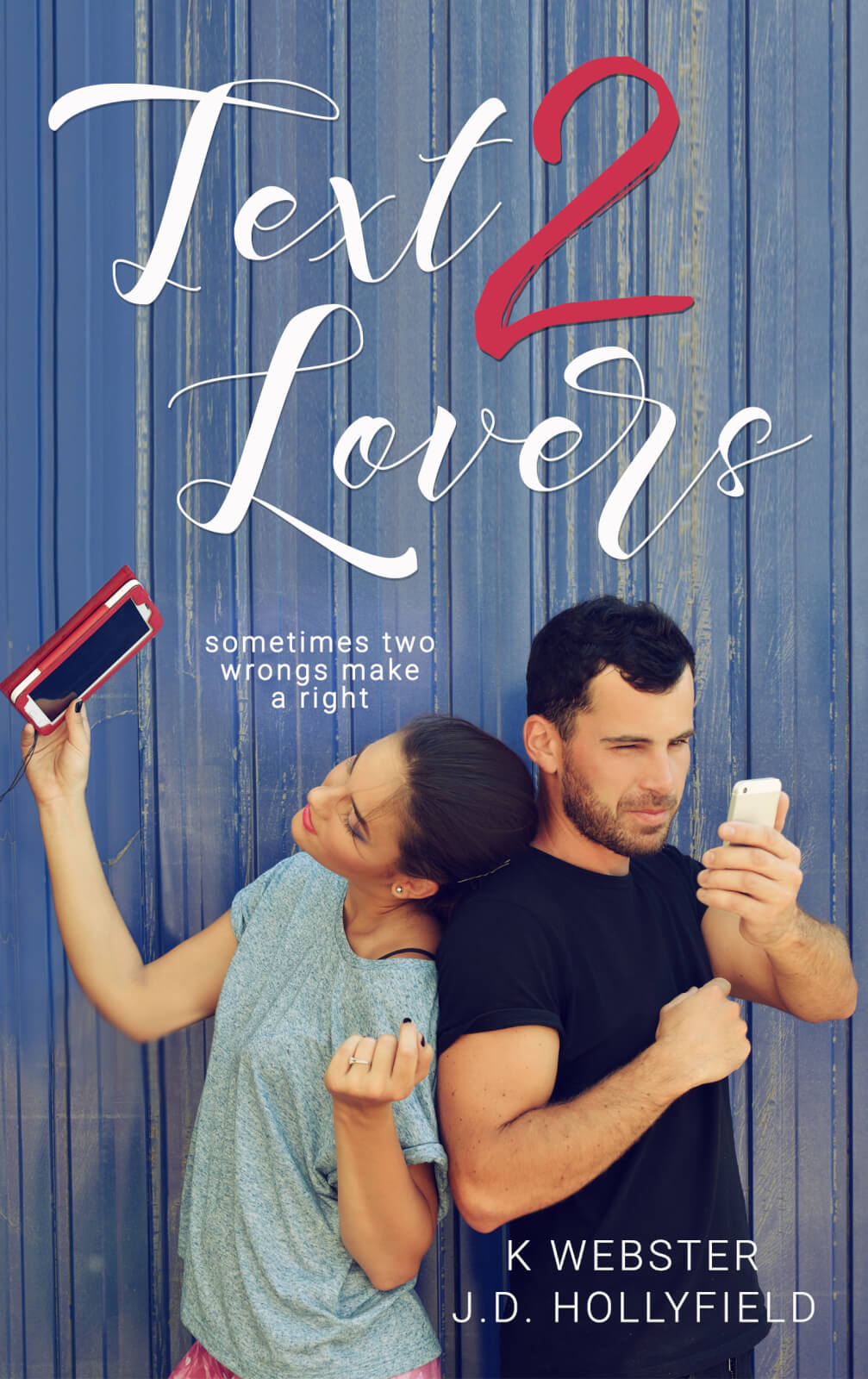 Release Day Blitz & Review: Text 2 Lovers by K. Webster and J.D. Hollyfield